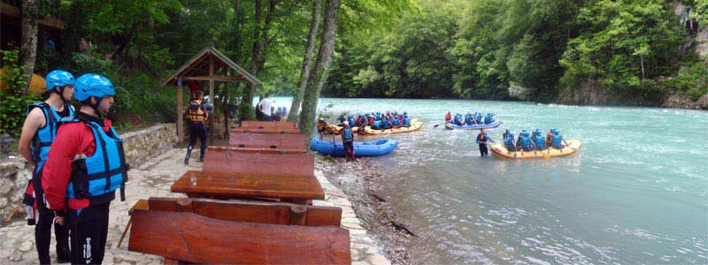 Arrival at the camp after rafting