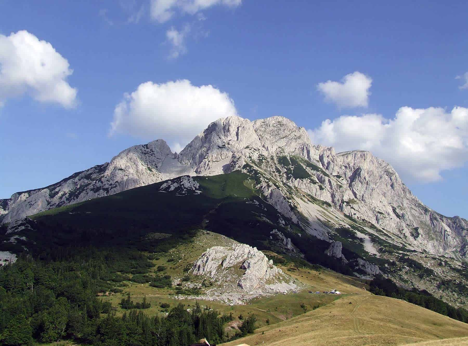 Durmitor peak Bobotov kuk in Montenegro