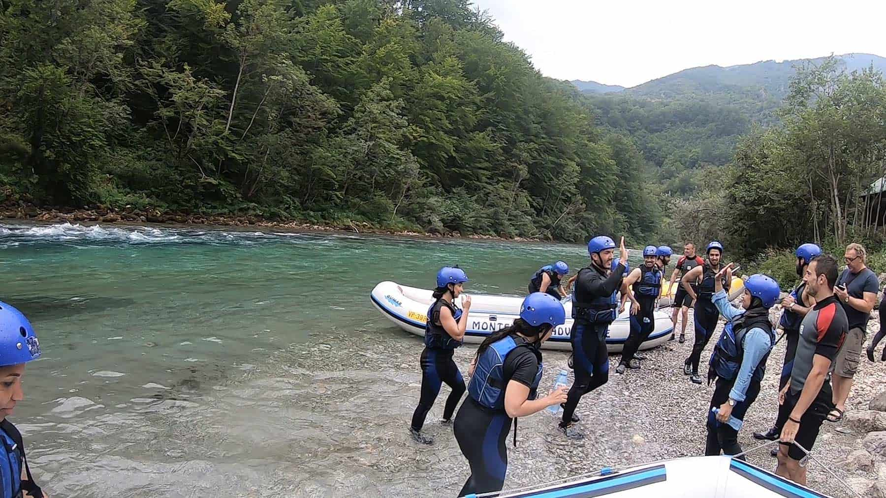 End of rafting and arrival at Zugica Luka
